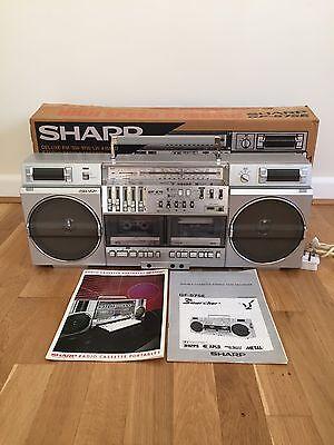 SHARP GF-575 E GHETTO BLASTER STEREO BOOMBOX RADIO RETRO 1980's COOL