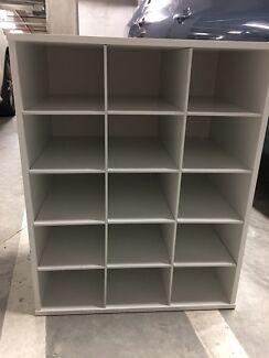 Shoe storage shelf - white