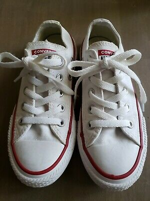Converse All Star Kids Shoes Size 12 White Boy Girl Unisex