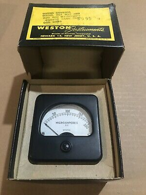 Vintage Weston 0-200 Dc Microamperes Panel Meter Gauge New