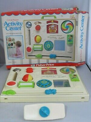 Vintage Fisher Price #134 Baby Toddler Crib Activity Center Toy In Original Box