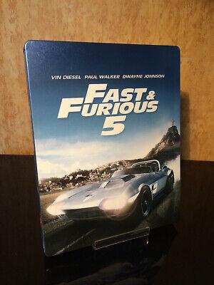 Fast & Furious 5 Fast Five Steelbook Bluray Blu-ray