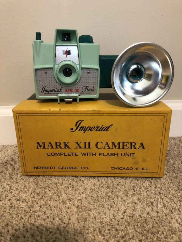 Imperial Camera Mark XII Camera - Green Complete With Flash And Box Manual