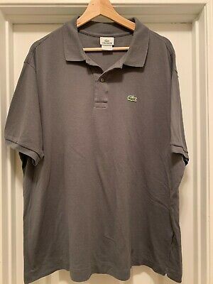 Lacoste Grey Polo Shirt Mens Golf Rugby Size 8