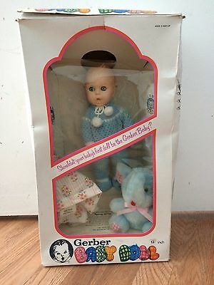 "12"" VINTAGE GERBER BABY BOY DOLL 1979 ""EYES MOVE INDEPENDENTLY SIDE TO SIDE"""