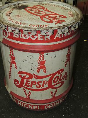 Pepsi Cola Double Dot 5 Gallon Can Drum Concentrated Syrup