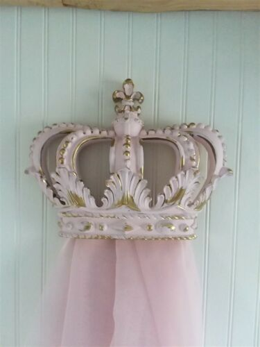 PINK and GOLD accents WALL CROWN NURSERY BED CANOPY PRINCESS PARTY  ROYAL