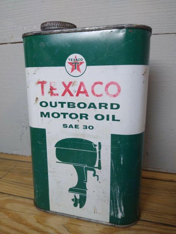 Texaco Outboard Motor Oil Can 1 Quart Empty