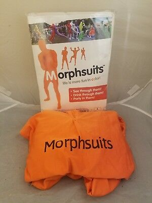 Adult Large Orange Amscan Morphsuit - Life is more Fun in Color - 5'4