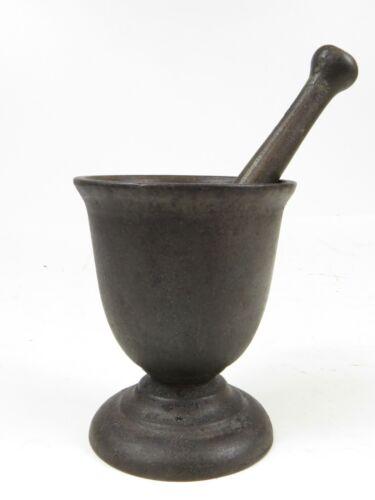 Antique Mortar & Pestle Set Apothecary Cast Iron Pharmacy Kitchen Tool