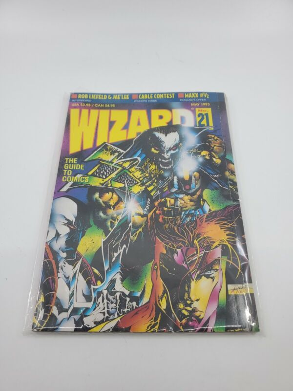 Wizard: The Guide to Comics May 1993 -Number 21 -Magazine With Youngblood Poster