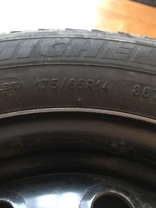 175/65R14 micheline x-ice tires and rims