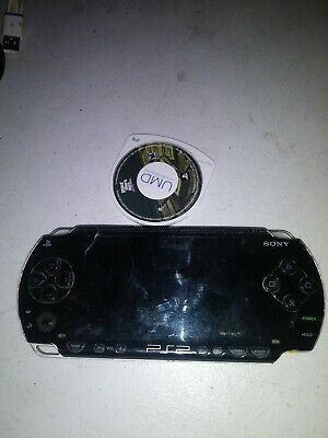 ## WORKING / NO BATTERY ## SONY PSP PLAYSTATION PORTABLE BLACK SYSTEM PSP-1001