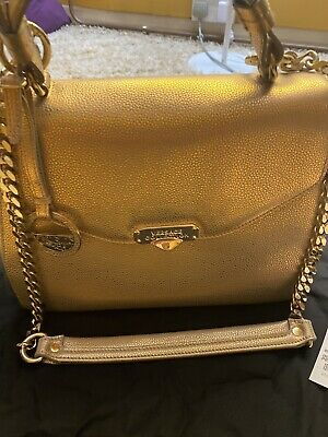 Stunning Versace Collection Gold Iridescent Handbag BNWT