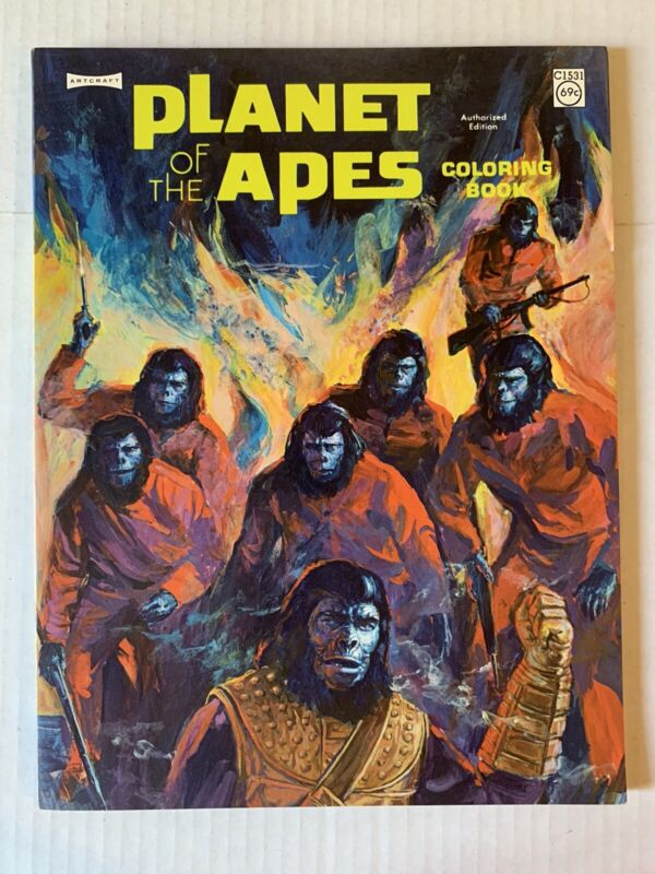 VINTAGE - Planet of the Apes Coloring Book Artcraft Unused POTA