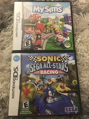 MySims And Sonic Sega All-stars Racing DS Both Complete with case and manual