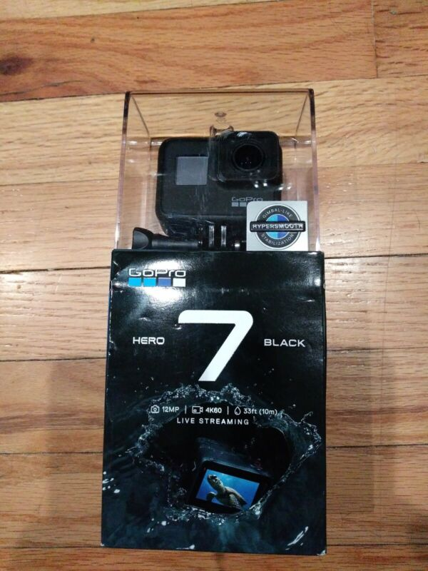 New  GoPro HERO7 Black 12 MP Waterproof 4K Camera Touch Screen CHDHX-701