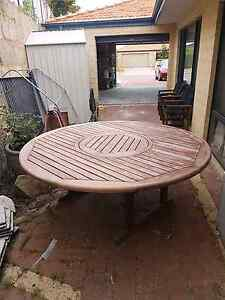 Timber outdoor setting - Table and Chairs Tapping Wanneroo Area Preview