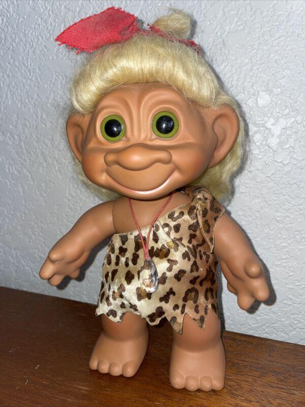 "DAM Troll 9"" Rare Posable Ceramic / porcelain Cave woman Troll 70's"