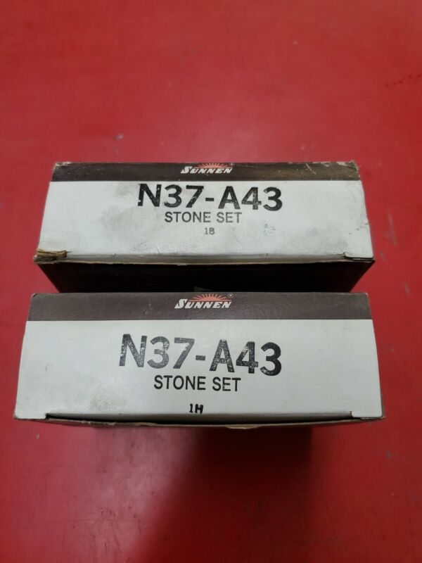 Sunnen Stone Set N37-A43 - Lot Of 2