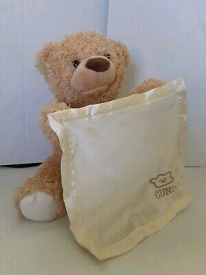 Gund Baby Peek A Boo Talking Teddy Bear Plush Stuffed Animal Clean Cuddly Good