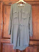 Witchery size 10 khaki shirt dress Flinders Park Charles Sturt Area Preview