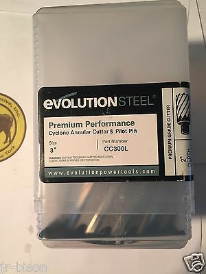 "EVOLUTION CYCLONE PREMIUM ANNULAR CUTTER ~  7//8/"" x 2/""  w// PILOT PIN CC875L"