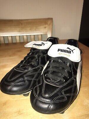 Puma King Pro - Black/White - Size 5 UK. Part worn.