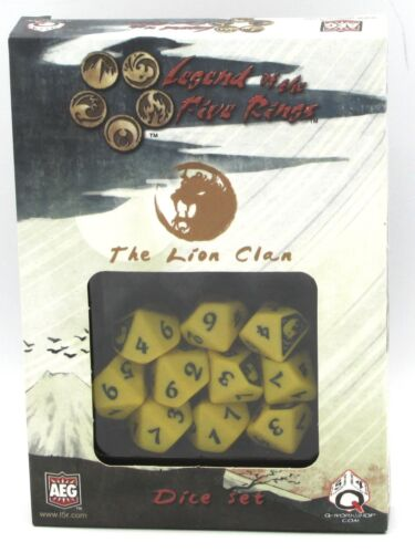 Q-Workshop SL5R59 The Lion Clan Dice Set (Legend of the Five Rings) Yellow d10