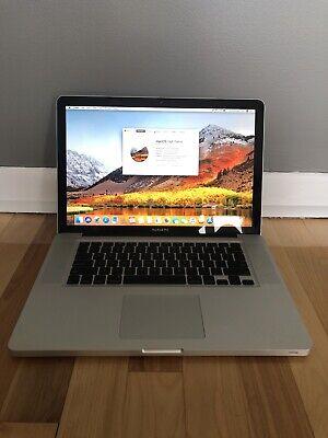 """Apple MACBOOK PRO A1286 15"""" mid-2010 i5-520M 4GB 500GB GT330M *HIGH SIERRA*"""