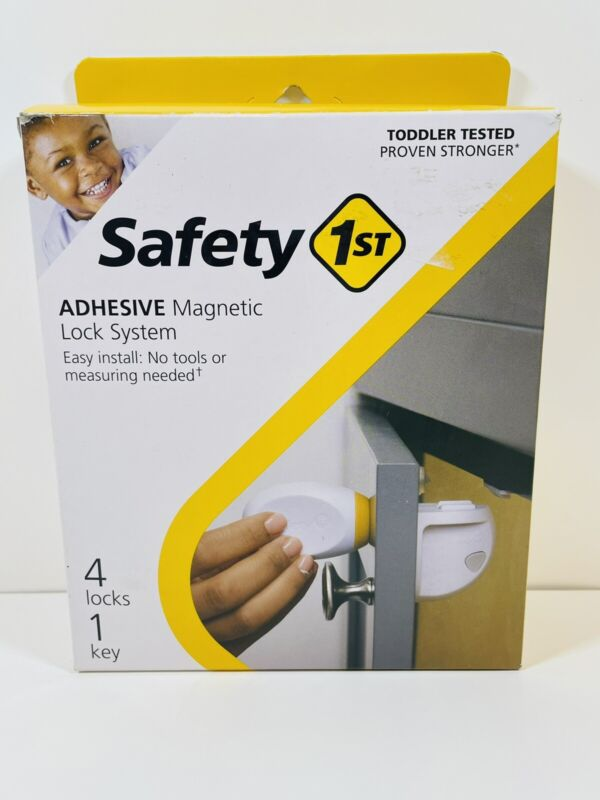 Safety 1st Toddler Magnetic Lock System Adhesive 4 Locks 1 Key Brand New in Box