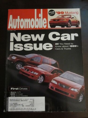 Automobile Magazine October 1998 New Car Issue Acura 3.2TL BMW M Coupe (X8)