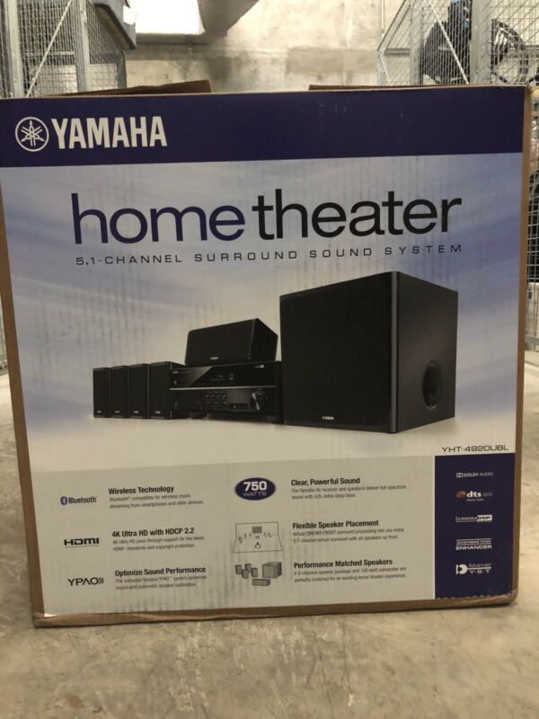 Yamaha 650W 5.1-Channel 3D Home Theater System Black YHT-4920UBL