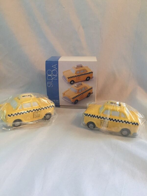 New York Taxi Tire Salt and Pepper Shakers Studio Nova