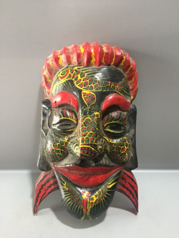 collections antiques china wizard pray Halloween horrible Mask Monsters devil