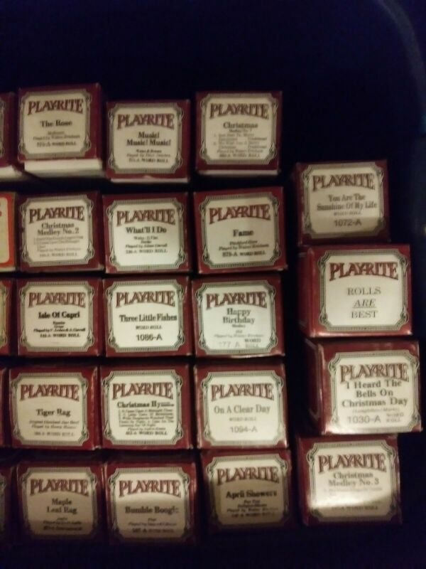 PLAYRITE - player piano rolls (pick your roll)