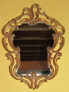 01c28 ancien miroir rococo bois sculpte style louis xv xvi rocaille baroque ebay. Black Bedroom Furniture Sets. Home Design Ideas