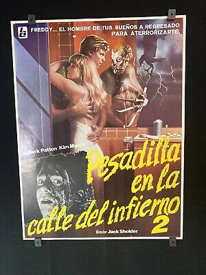 "Original 1985 A NIGHTMARE ON ELM STREET 2 18""x24"" Mexican Movie Poster HORROR"