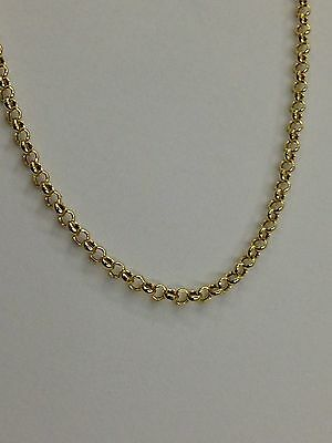 (14k Yellow Gold Round Cable ROLO Link Pendant Chain/Necklace 20 1.9 mm 1.5 grms)