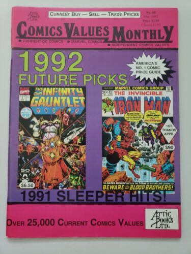COMICS VALUE MONTHLY MAGAZINE #68 March 1992 INFINITY GAUNTLET! THANOS!