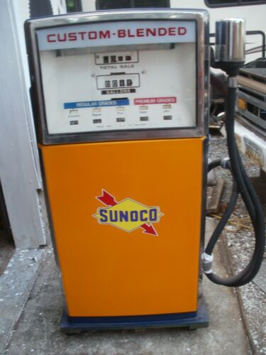 VINTAGE SUNOCO BLEND O-MATIC GAS PUMP ITS IN GREAT CONDITION HAVE PAPER WORK