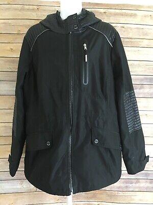 Womens MICHAEL KORS Winter Coat Size XL Black Dress Jacket Full Zip Hoodie
