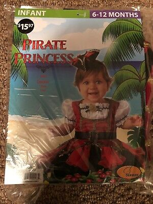 Halloween Costume Infant Girl  Pirate Princess 6-12 Months](Babies Pirate Costume)
