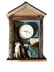 dog wall clock,quartz,hunting,pointer,terriers,gun Ducks Backpack,Battery Wood