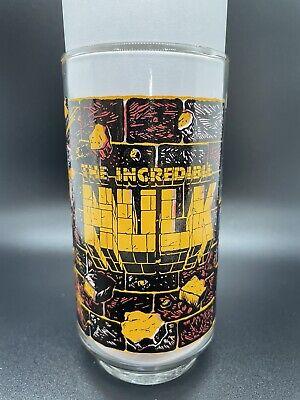 VINTAGE THE HULK DRINKING GLASS 1977 7-11 MARVEL PERFECT