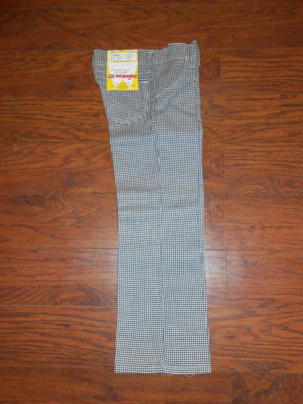Childrens 70s Vintage Wrangler Houndstooth Pattern Boys/Girls Size 11 Reg Pants