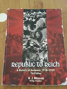 Republic to Reich A history of Germany 1918-39 Beckenham Gosnells Area Preview
