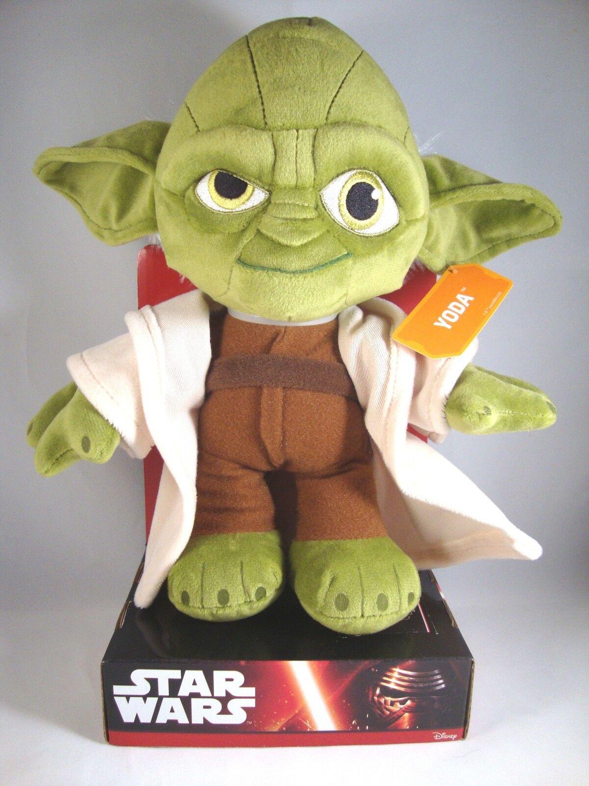"""Star Wars """"Yoda"""" Samt-Plüsch Stofftier-Figur Starwars Krieg der Sterne 27 cm"""