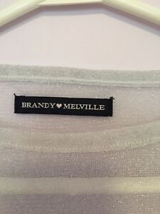 Brandy Melville shear tee *NEW WITH TAGS*