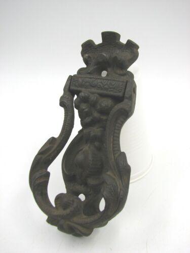 VTG. Cast Iron Ornate  Figural Door Knocker